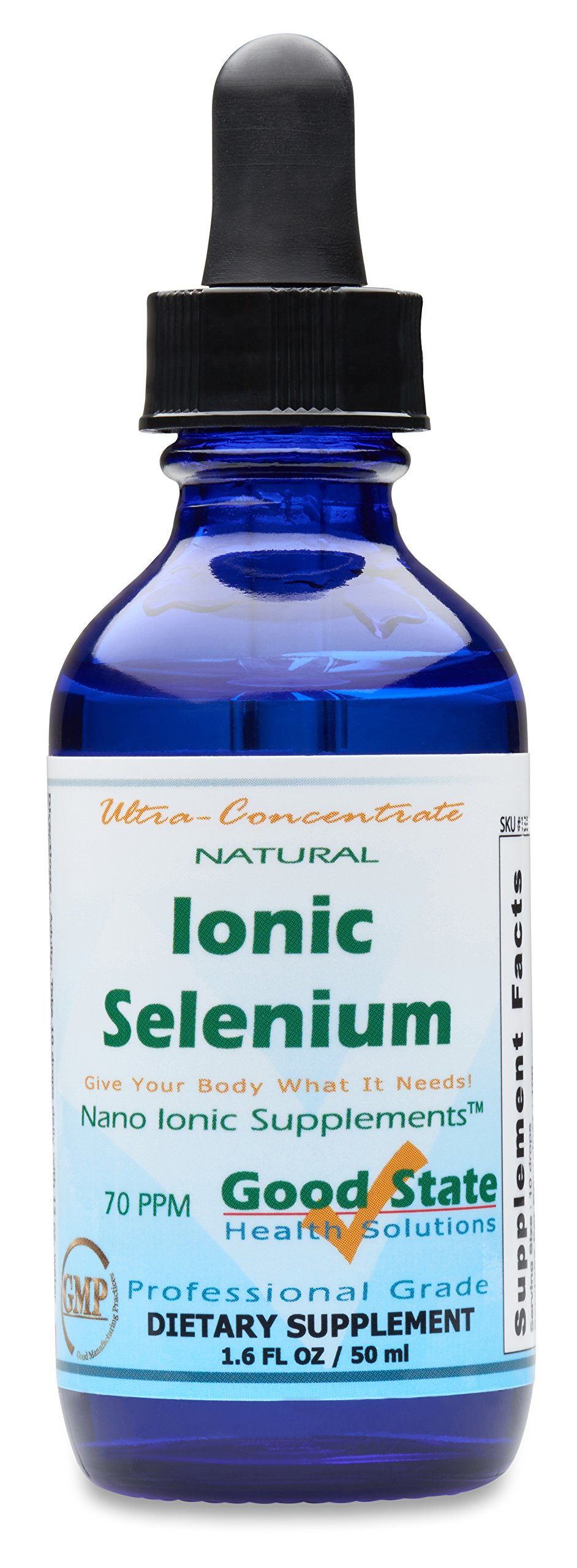 (Glass Bottle) Good State Liquid Ionic Selenium Ultra Concentrate (10 drops equals 70 mcg - 100 servings per bottle)