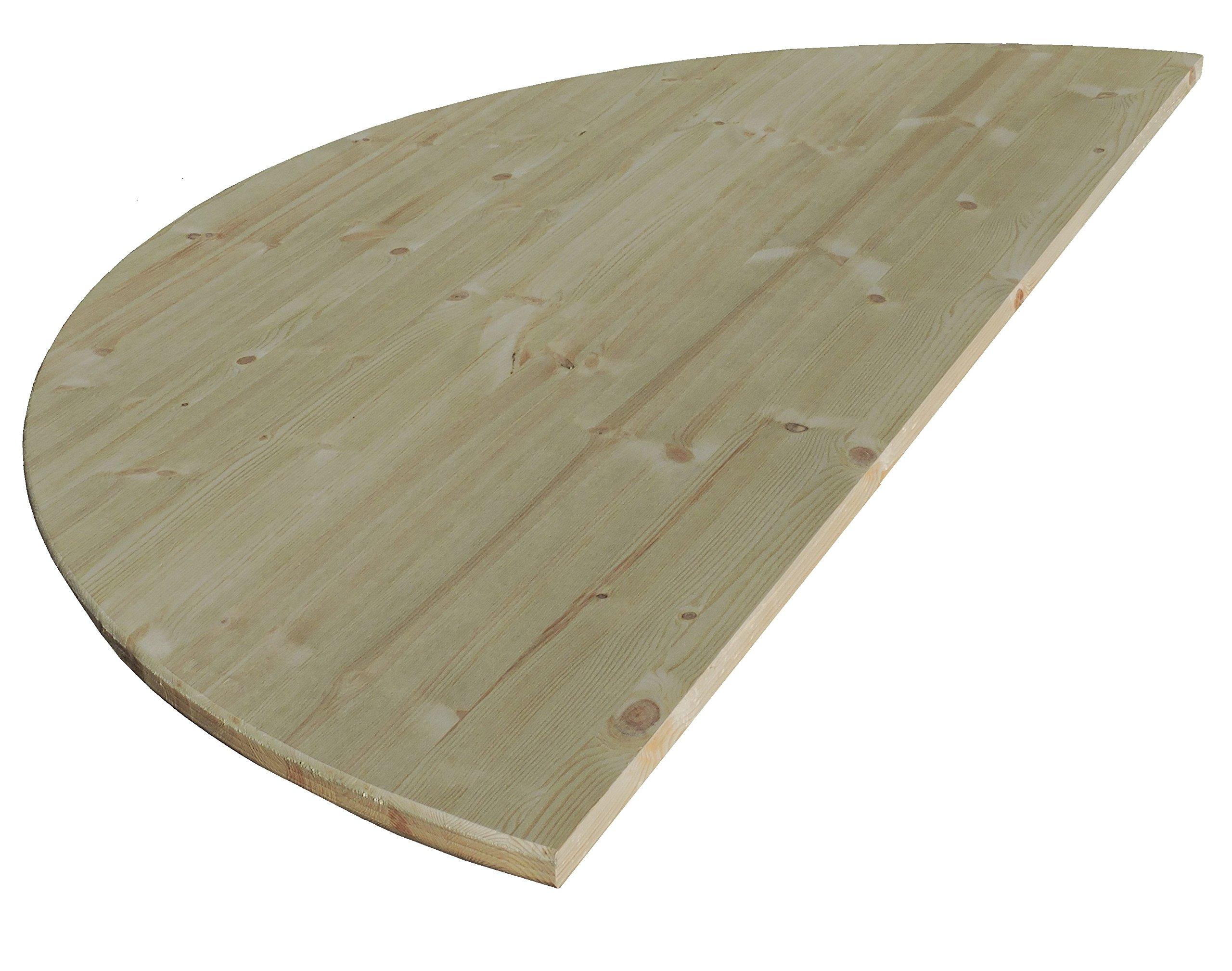Allwood 1'' x 54'' Half Round Table Top
