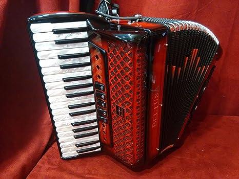 Nueva beltuna Piano acordeón Studio III sombra rojo LMM 34 ...