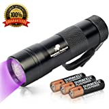 365nm UV Flashlight – Best for Finding Pet Urine, Inspecting Hotel Rooms and Repairing Carpets – 12 LED Ultraviolet Light – AAA Batteries Included – 6 Months Guarantee by Americans' Preferred