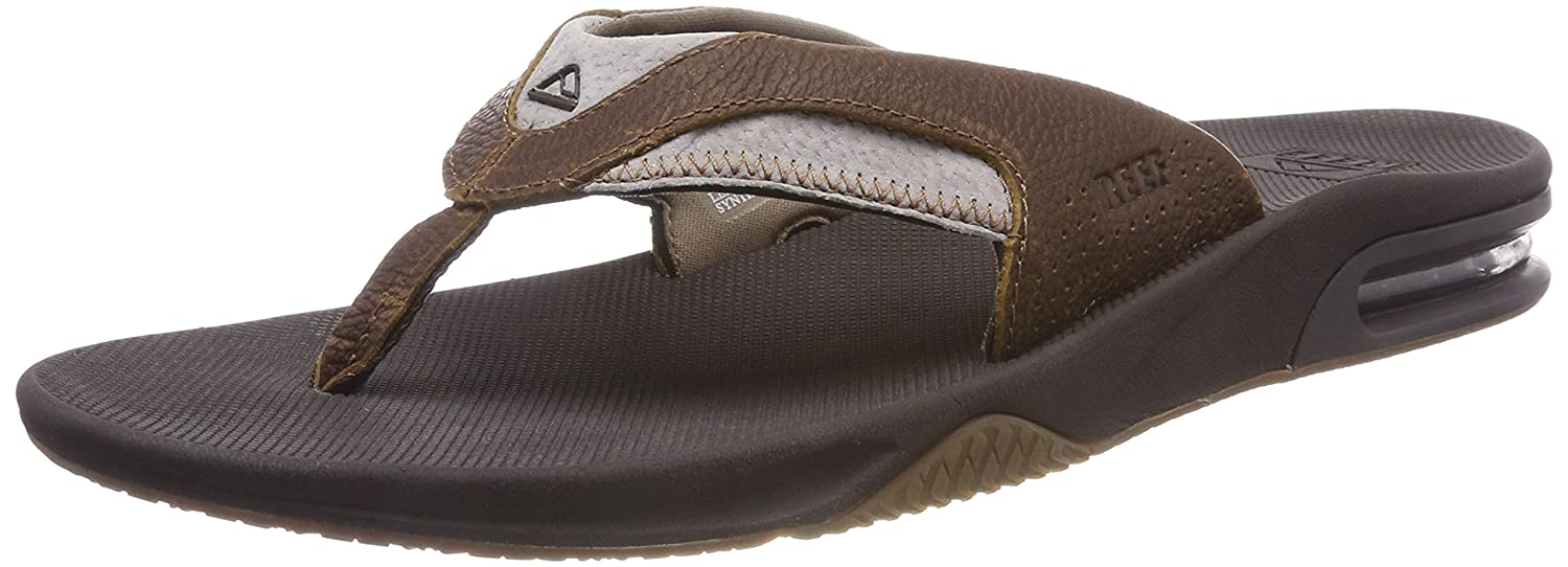b50bb9ba35c Amazon.com  Reef Men s Leather Fanning Sandal  Shoes