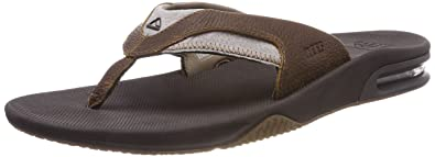 ba16cbcec00 Amazon.com  Reef Men s Leather Fanning Sandal  Shoes