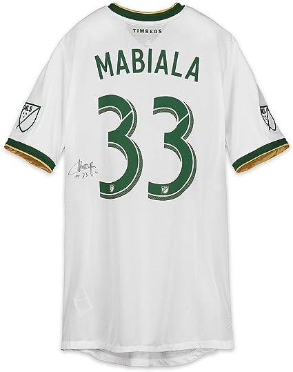 on sale e379c a4a6d Larrys Mabiala Portland Timbers Autographed Match-Used White ...