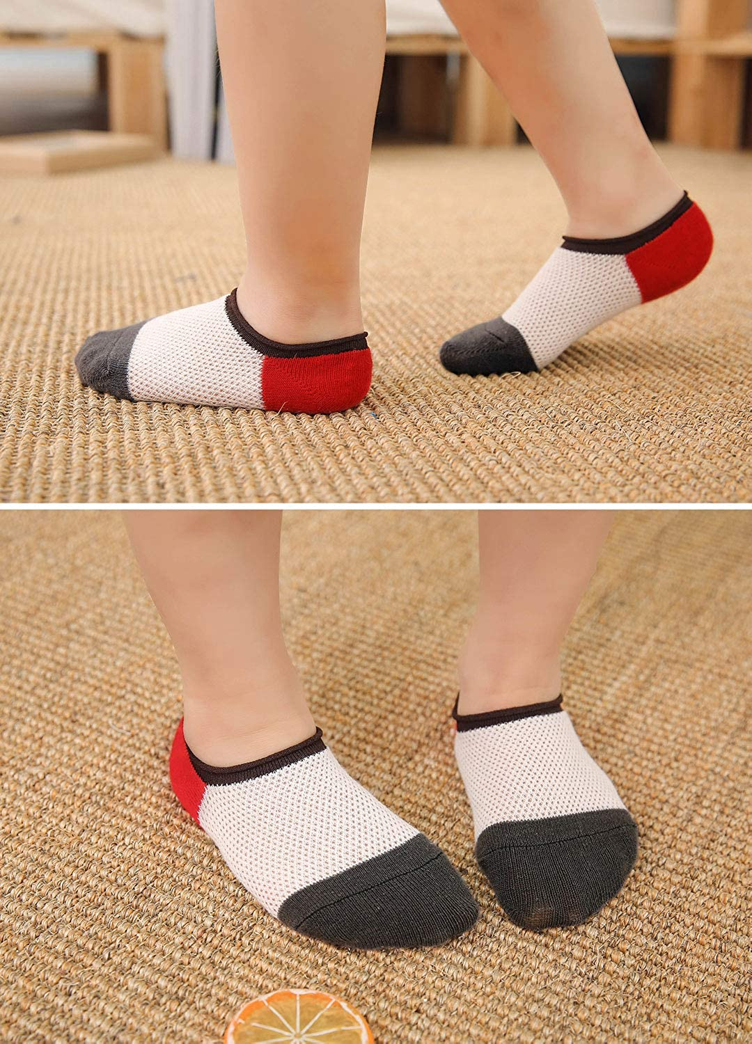 5 pairs 2-11 Years Toddler Boys Cotton Socks Kids Breathable Cute Casual Ankle Socks Back to School Socks