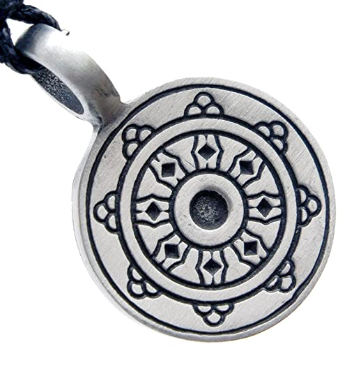 Amazon Dharma Wheel Karma Buddhism Hinduism Pewter Pendant W