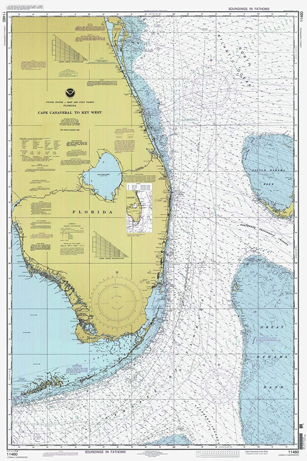 Amazon.com: Map - Cape Canaveral To Key West, 1999 Nautical ... on myakka map, southwest gulf coast map, cape kennedy map, frostproof map, cape blanco map, cape hatteras map, canaveral groves map, beach in indialantic fl map, lake okeechobee map, gladeview map, cape cod map, great basin map, south daytona beach map, canaveral port authority map, florida map, canaveral barge canal map, st. augustine map, key west map, cape flattery map, the everglades map,
