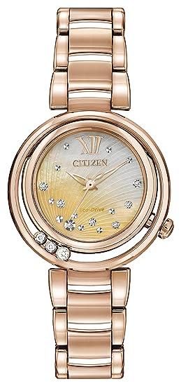 Citizen L Sunrise Diamond Reloj de Cuarzo para Mujer con Madre de Pearl Esfera Analógica Pantalla