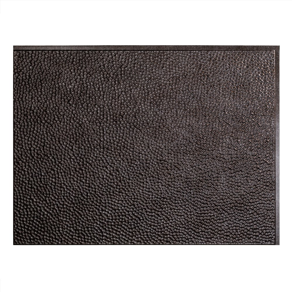 Fasade Easy Installation Hammered Smoked Pewter Backsplash Panel for Kitchen and Bathrooms (18'' x 24'' Panel)