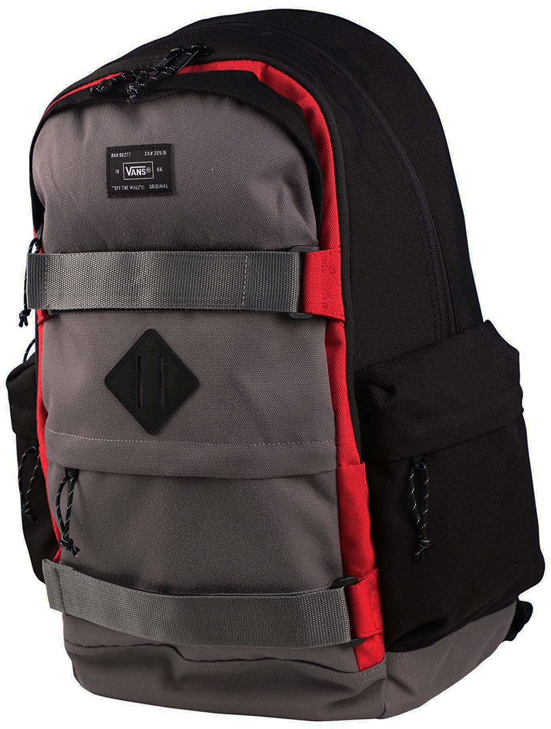 c48ec6b06a Amazon.com  Vans Off The Wall Jetter Carry All Skate Backpack-Pewter Black Red   Sports   Outdoors
