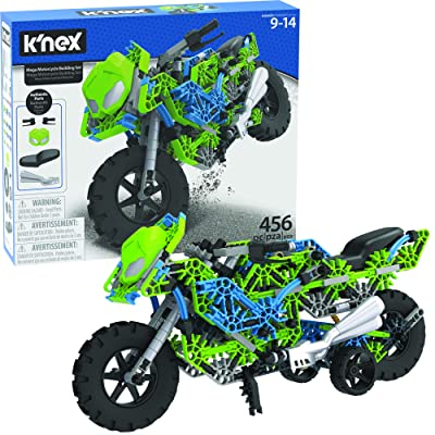 "K'NEX Mega Motorcycle Building Set - Ages 9+ - 456 Parts - Working Suspension, Authentic Replica Model, Advanced Stem Building Toy for Boys & Girls - 14.5"" L X 6"" H: Toys & Games"