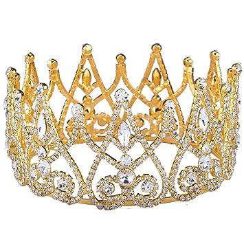 Amazoncom Stuffwholesale Royal Gold Silver Crown Rhinestone