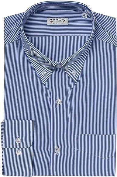 Arrow - Camisa de rayas para hombre, color azul azul marino 40: Amazon.es: Ropa y accesorios