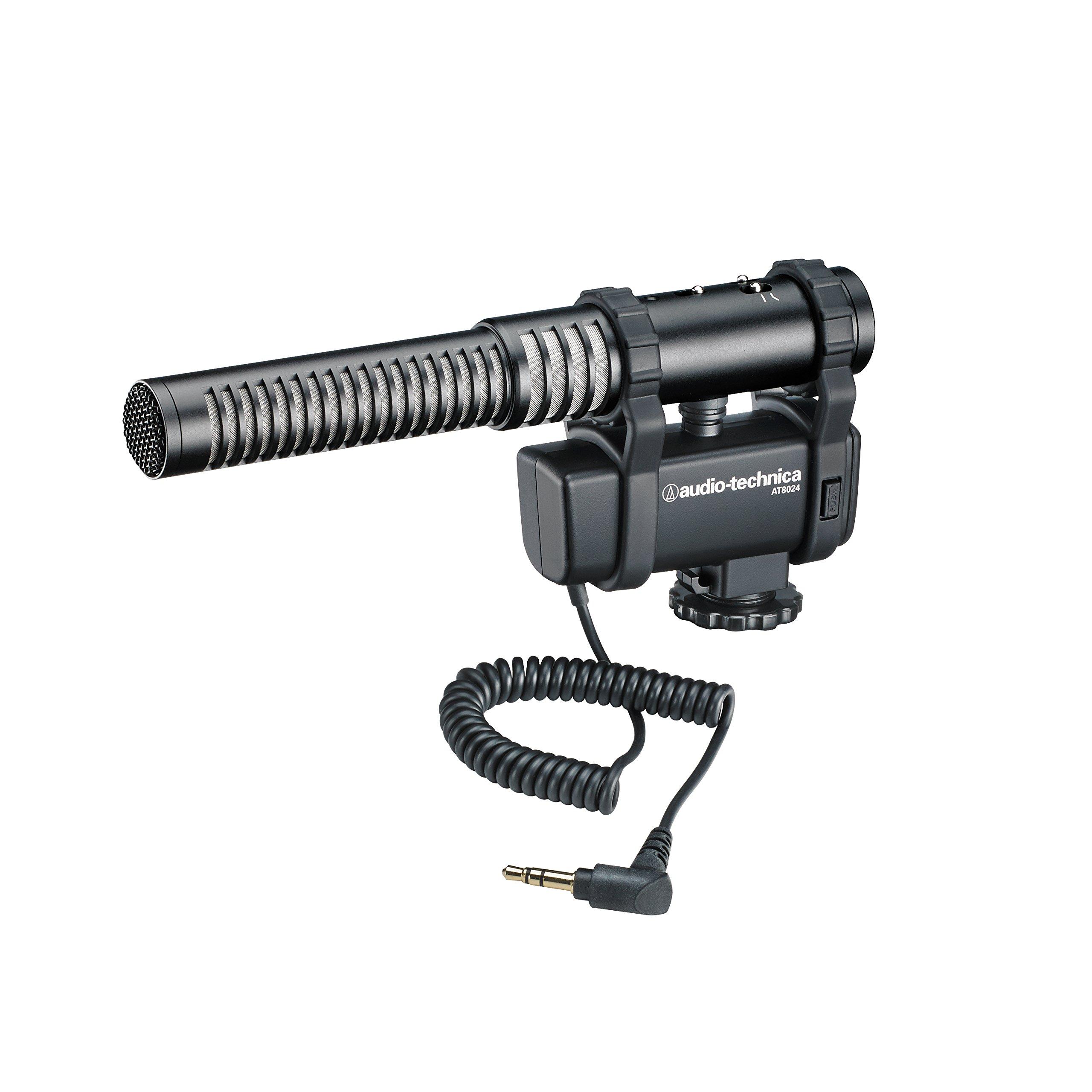 Audio-Technica AT8024 Stereo/Mono Camera-Mount Condenser Microphone by Audio-Technica