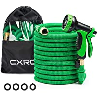 CXRCY Expandable Garden Hoses, Double Latex cores 3 Times expanded car wash Hoses (75ft)