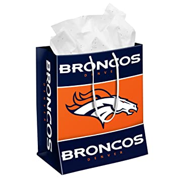 Image Unavailable. Image not available for. Color: DENVER BRONCOS MEDIUM GIFT BAG