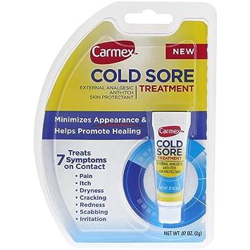 amazon com carmex cold sore treatment 0 07 ounce health