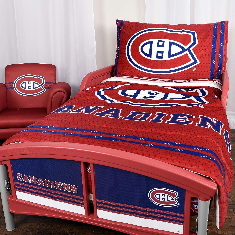 NHL 42707-311-TDST-MONT モントリオールカナディアンズ3ピース幼児寝具セット B07KG36W4S