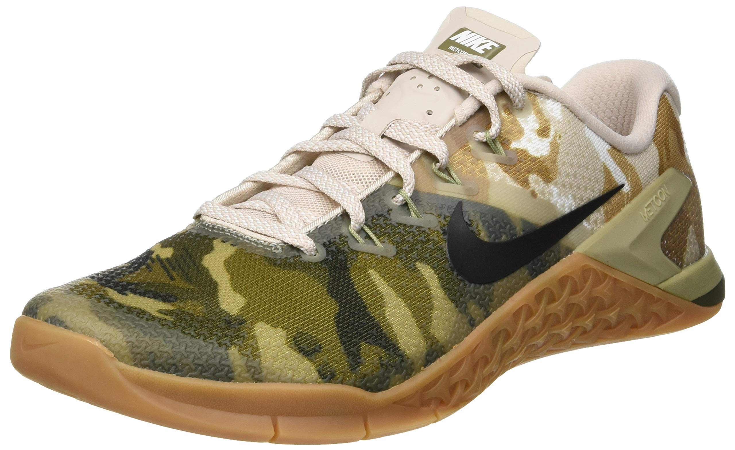 Nike Metcon 4 AH7453-300 Camo Olive Canvas/Gum Brown/White Men's Training Shoes (7.5 D US)