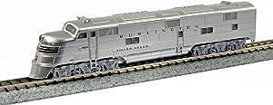 Kato USA Model Train Products EMD E5A #9910A CB and Q Silver Speed N Scale Train
