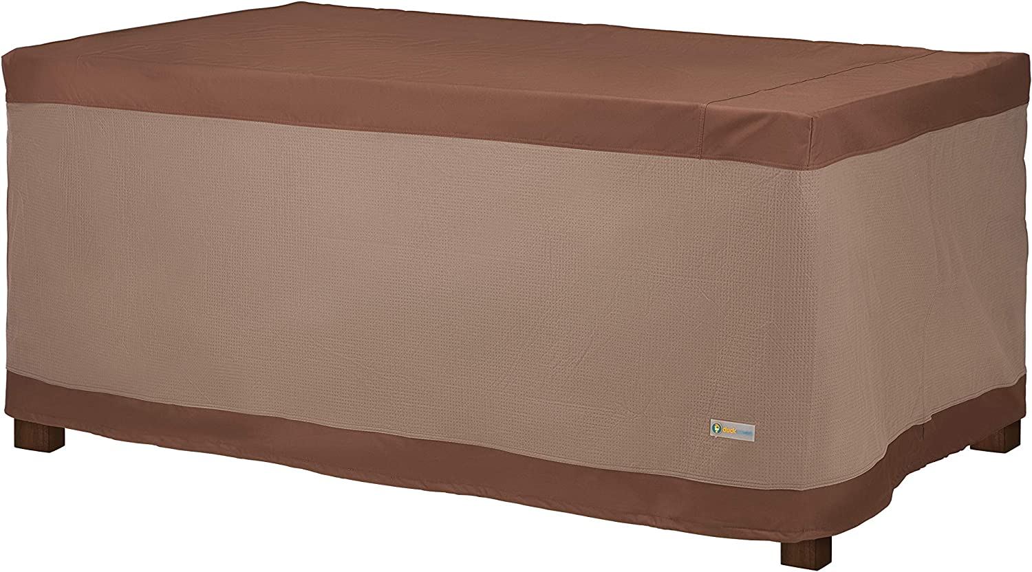 "Duck Covers URT744632 Ultimate Rectangular Table Cover 72"" W, Mocha Cappuccino"