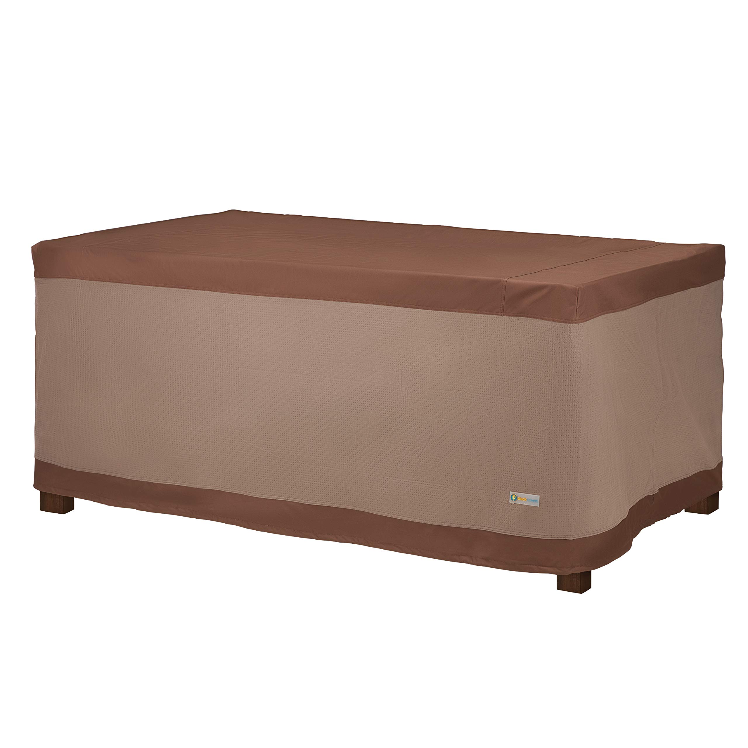Duck Covers URT744632 Ultimate Rectangular Table Cover 72'' W, Mocha Cappuccino