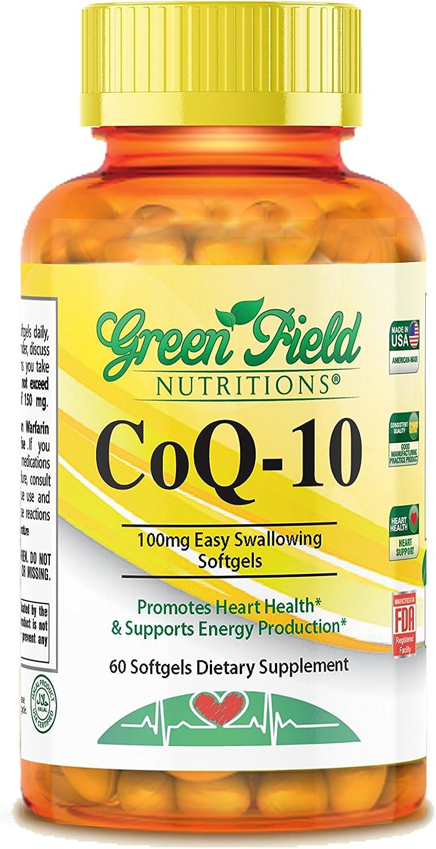 Greenfield Nutritions, Co Q10 100 mg, Halal Vitamins, 60 Softgels