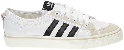 Adidas Nizza Lo Men's Canvas Sneakers, WhiteBlackWhite,