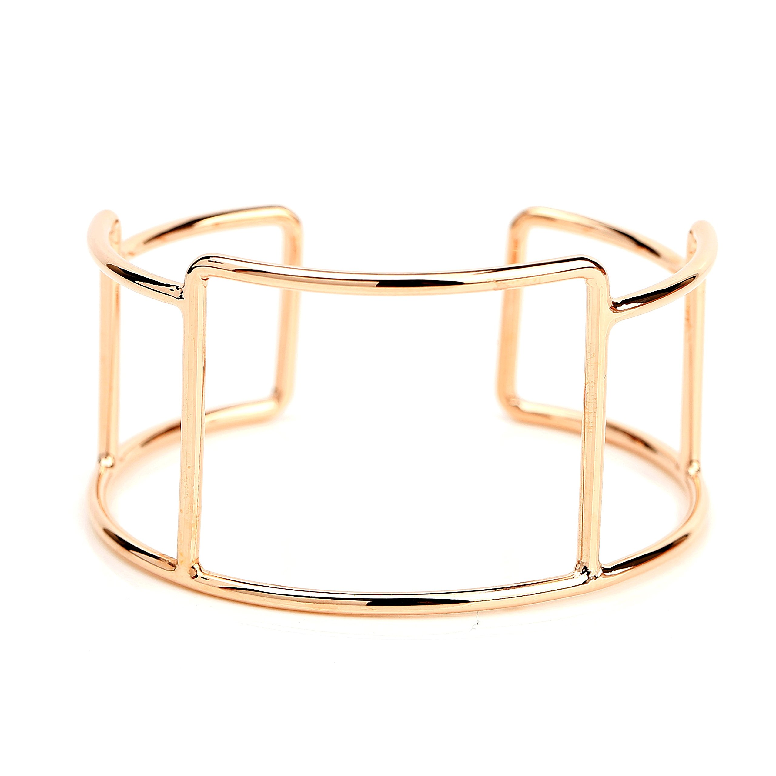 Stylish Designer Bangle Bracelet Cuff with Contemporary Geometric Design