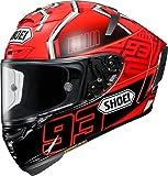 ショウエイ(SHOEI) バイクヘルメット フルフェイス X-Fourteen MARQUEZ4 (マルケス4) TC-1 RED/BLACK XL (頭囲 61cm)