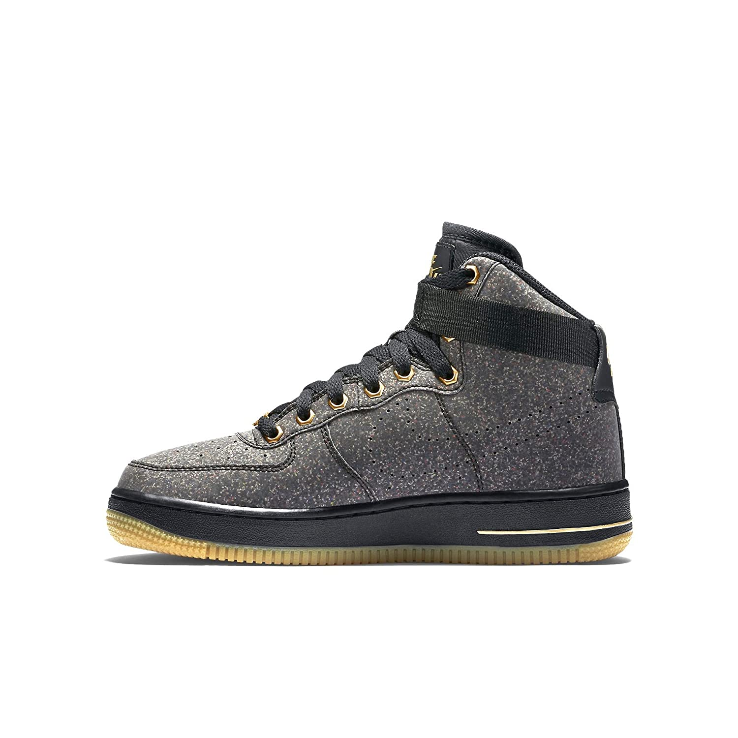 the latest c48ae aaae6 Nike Air Force 1 High LV8 (GS) Black Gum Metalic Gold 807617-007 (Size  7Y)   Amazon.ca  Shoes   Handbags