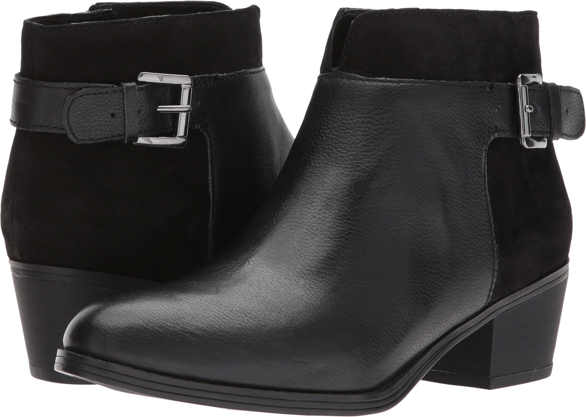 Naturalizer Women's Wanya Black Leather/Suede 8.5 M US