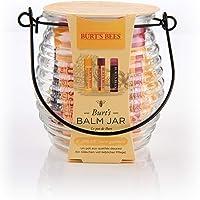 Burt's Bees Balm Jar 100% Natural 3 Piece Gift Set:  2 x Moisturising Lip Balm 4.25g - Beeswax and Pomegranate Flavour, 1 x Moisturising Tinted Lip Balm 4.25, Hibiscus