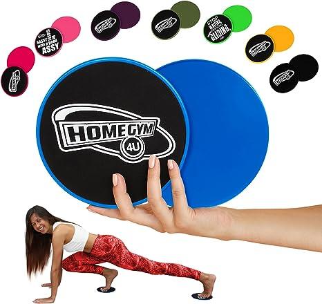 Hg4u Core Sliders Per Addominali Dischi Fitness Allenamento 2 Dischi Esercizi Per Gambe A Casa Blu Amazon It Sport E Tempo Libero