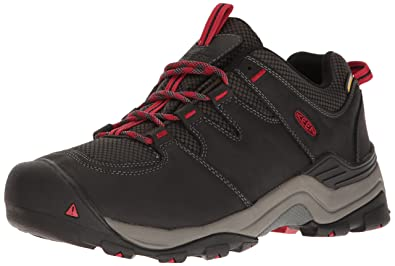 KEEN Men's Gypsum Ii Waterproof Backpacking Boot, Black/Tango, ...