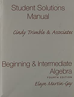 Beginning intermediate algebra 4th edition elayn martin gay beginning and intermediate algebra student solutions manual component fandeluxe Choice Image