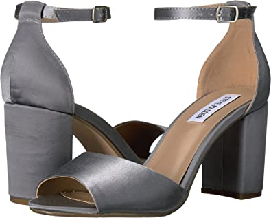 Steve Madden Women's Mirna Blue Satin Sandal