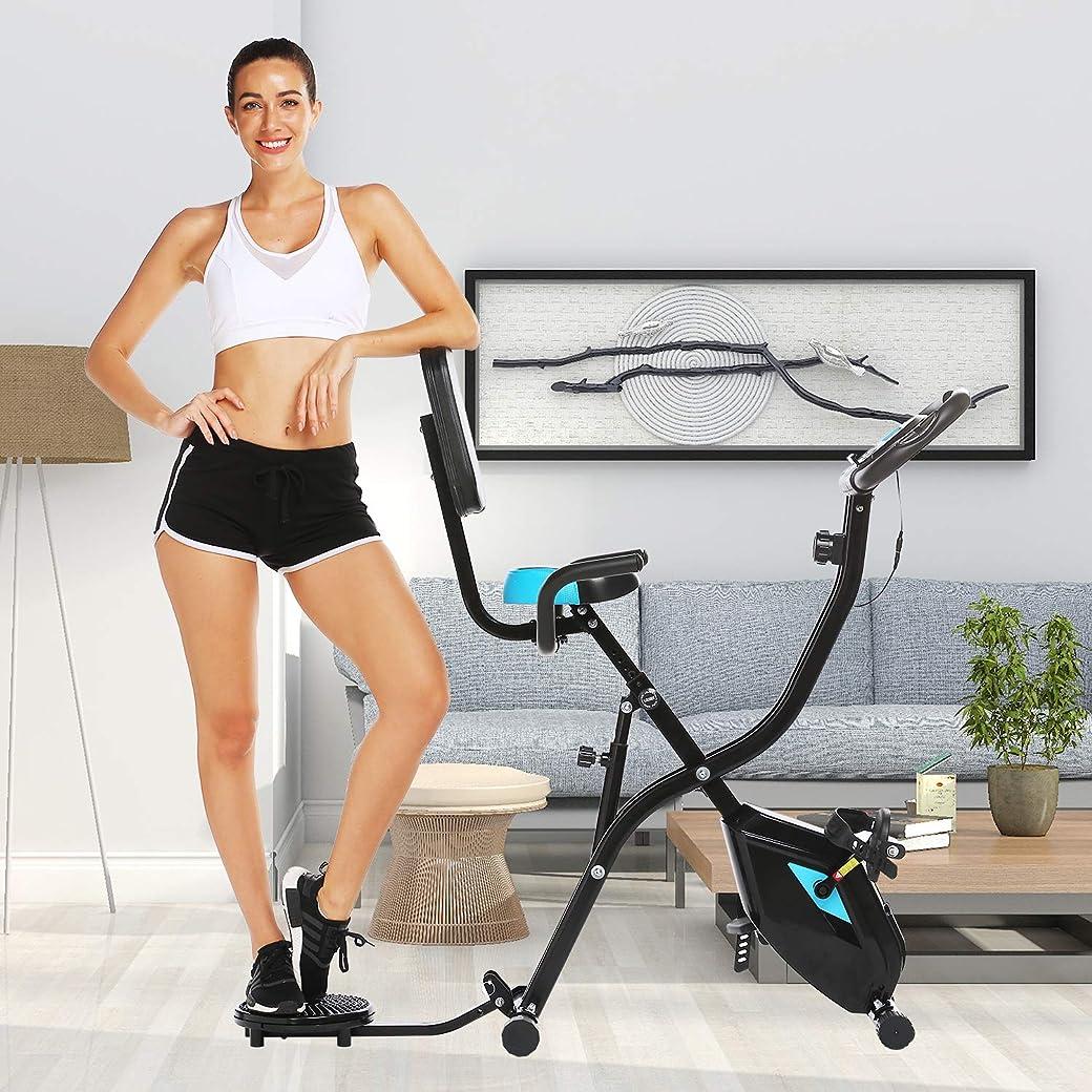 Profun Bicicleta Estática Plegable de Fitness con Respaldo X