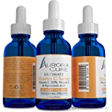 Aurora Cure VITAMIN C 20% Serum ANTI AGING, Professional Strength Formula Citrus Infused with Hyaluronic Acid and Vitamin E