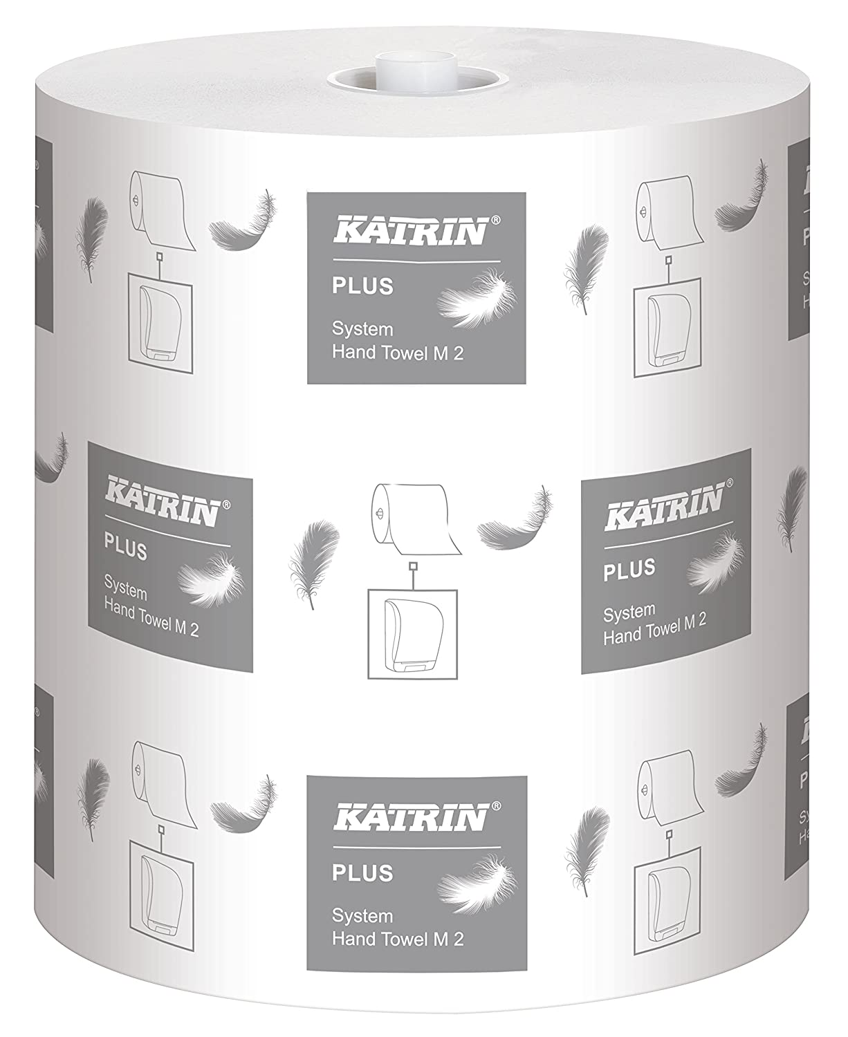 Windmill embossing Pack of 6 Katrin 460058 Plus System hand towel roll 2-Ply white