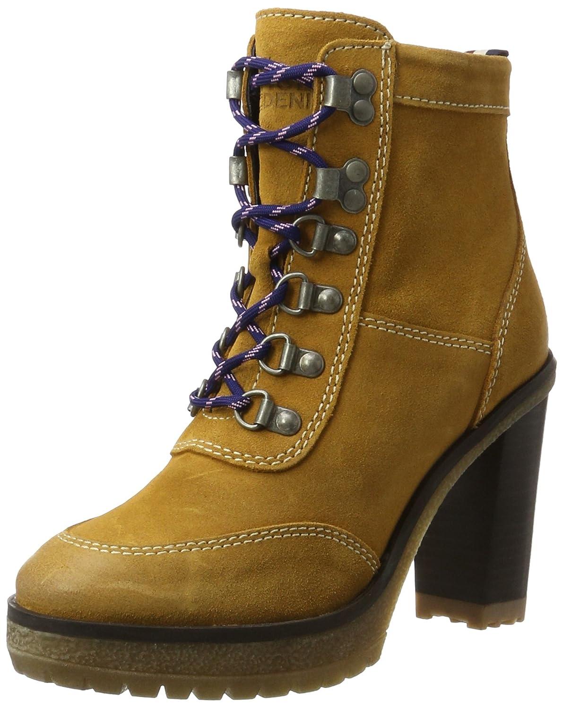Tommy Jeans C1385leo 14b, Botas Militar para Mujer38 EU|Amarillo (Spruce Yellow)