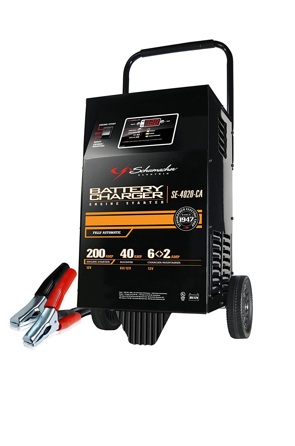 Amazon.com: Schumacher (SE-4020-CA) 6/12V 200 Amp Automatic Battery Charger:  Automotive