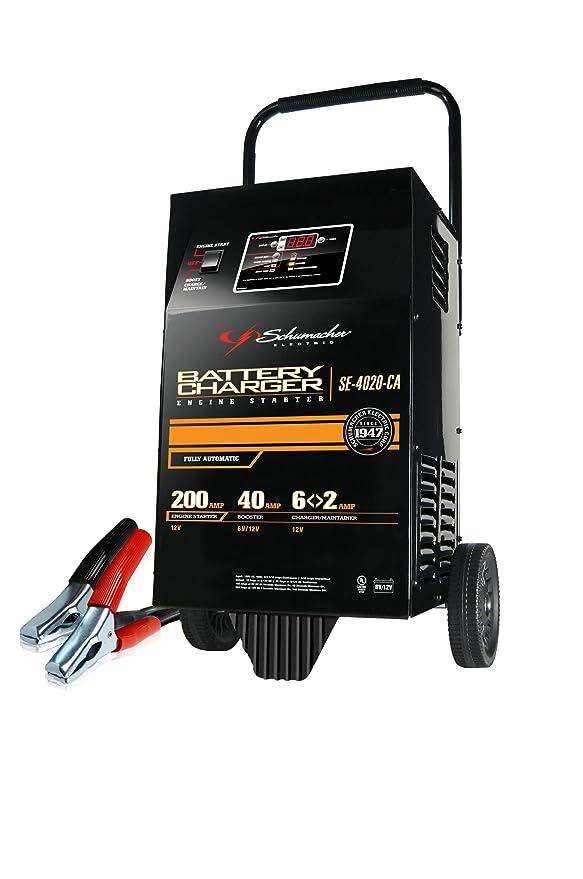 SCHUMACHER (se-4020-ca) 6/12 V 200 Amp Cargador de batería ...