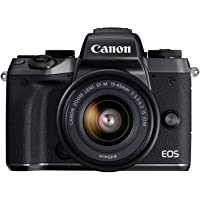 Canon EOS M5 15-45 Mirrorless Camera Kit 15-45mm Lens Kit, Wi-Fi Enabled & Bluetooth, Black
