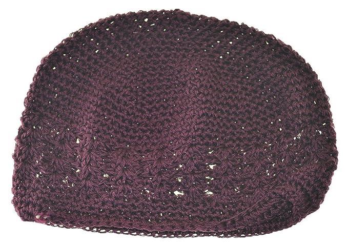 Amazon Mm Kufi Hat Crochet Cap Beanie Maroon Burgundy Clothing