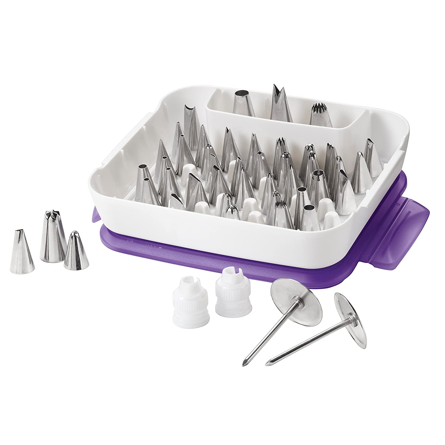 Wilton Master Decorating Tip Set, 55-Piece decorating tips, Cake Decorating Supplies 2104-0240