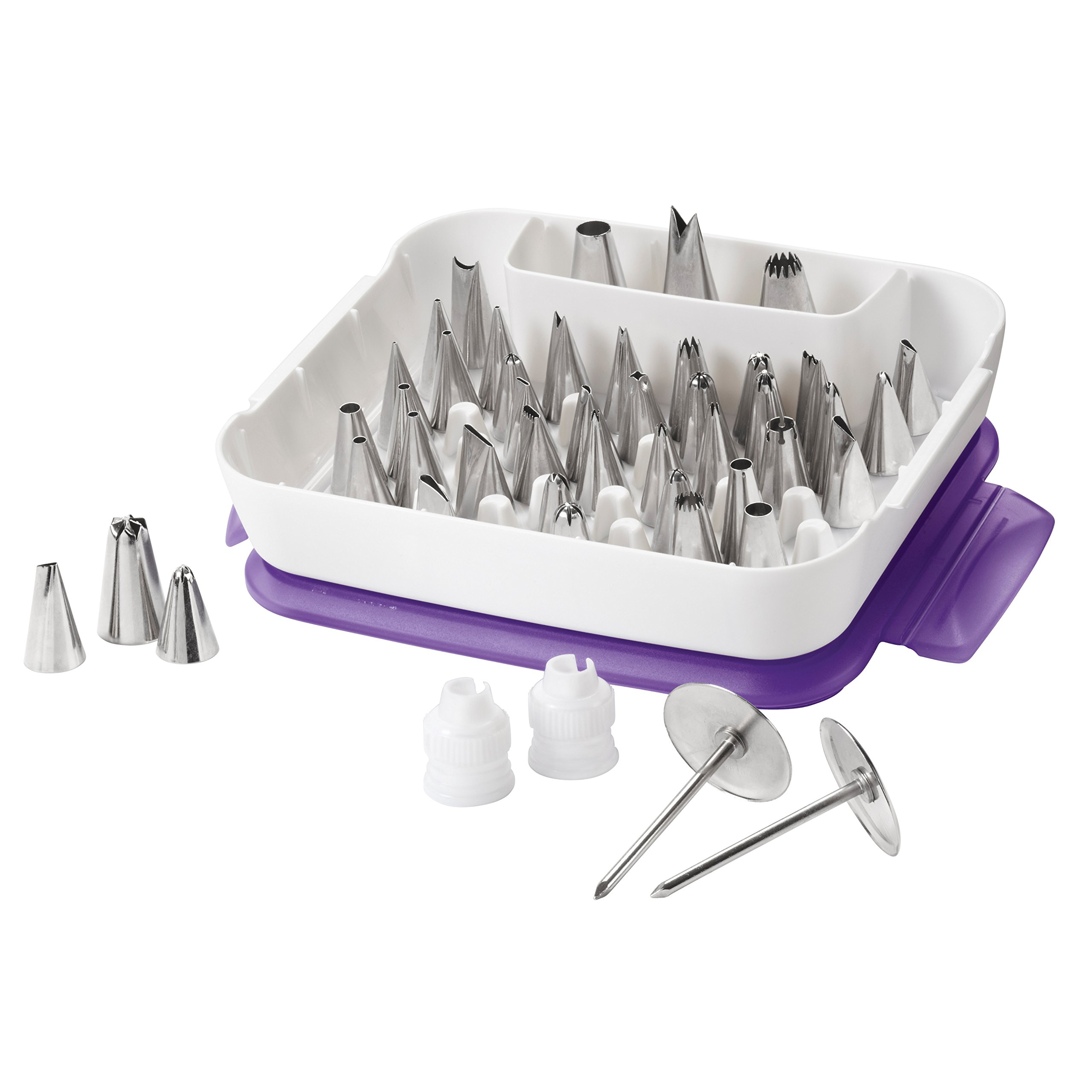 Wilton Master Decorating Tip Set, 55-Piece decorating tips, Cake Decorating Supplies product