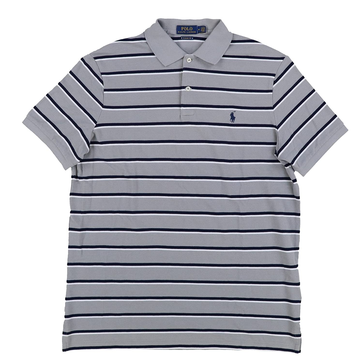 Polo Ralph Lauren Mens Classic Fit Pony Logo Striped Polo Shirt At