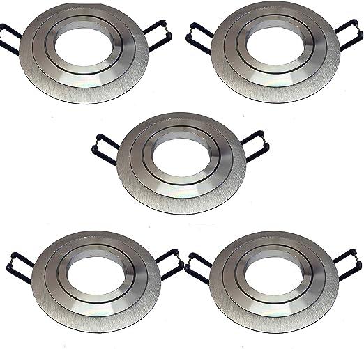 pack de 5 AROS ARO empotrable ojo de buey redondo aluminio ...
