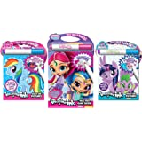Bundle of 3 Imagine Ink Activity Books - My Little Pony & My Little Pony: The Movie Magic Pictures, Shimmer and Shine Mess Free Game Book