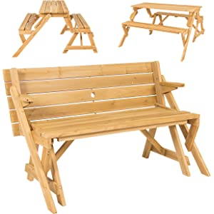 Amazon.com : Leisure Season Folding Picnic Table and Bench ...